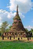 佛教stupa或chedi寺庙废墟  免版税库存照片