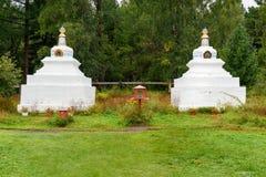 佛教stupa 佛教datsan Bodhidharma在Arshan 俄国 免版税图库摄影