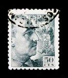 佛朗哥,佛朗哥I将军没有编辑serie的将军画象,大约1940年 库存图片