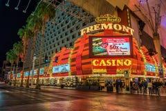 佛瑞蒙旅馆和赌博娱乐场在拉斯维加斯 库存图片