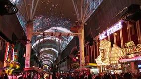 佛瑞蒙街经验在拉斯维加斯,美国, 2017年 股票录像