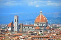 佛罗伦丁的大教堂的看法在意大利 免版税库存图片