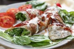 佛罗伦丁的烤碎肉卷子 库存照片