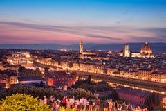 佛罗伦萨一幅美妙的全景从米开朗基罗广场的我 库存照片