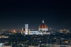佛罗伦萨中央寺院圣玛丽亚del菲奥雷 库存图片