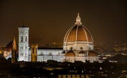 佛罗伦萨中央寺院看法  免版税图库摄影