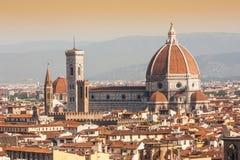 佛罗伦萨中央寺院视图 图库摄影