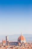 佛罗伦萨中央寺院视图 库存照片
