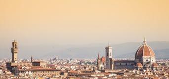 佛罗伦萨中央寺院视图 免版税图库摄影