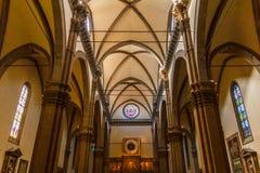 佛罗伦萨中央寺院里面建筑学  库存图片
