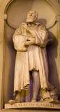 佛罗伦萨伽利略・伽利略雕象 免版税库存照片