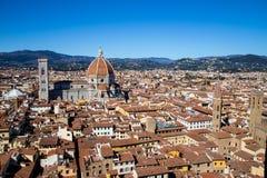 佛罗伦萨全景在托斯卡纳,意大利 库存照片