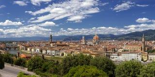 佛罗伦萨全景在春天 库存照片