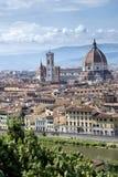 佛罗伦萨全景-意大利 免版税库存照片
