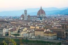 佛罗伦萨全视图从米开朗基罗mont 免版税库存图片