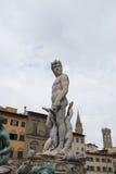 佛罗伦萨喷泉意大利海王星 免版税图库摄影
