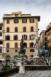 佛罗伦萨喷泉意大利海王星 库存照片