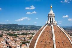佛罗伦萨圆顶大教堂在有拷贝空间的意大利 免版税图库摄影