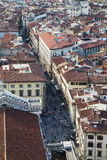 佛罗伦萨城市全景  免版税图库摄影