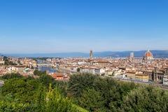 佛罗伦萨城市全景  库存照片