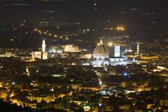 佛罗伦萨夜视图 免版税图库摄影