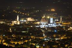 佛罗伦萨夜视图 图库摄影