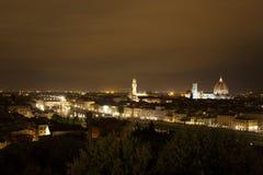 佛罗伦萨夜视图 免版税库存图片
