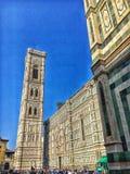 佛罗伦萨大教堂和Giotto ` s钟楼 免版税库存图片