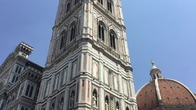佛罗伦萨大教堂圣玛丽亚del菲奥雷,托斯卡纳,意大利 影视素材