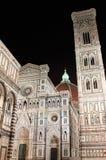 佛罗伦萨大教堂在夜之前 免版税图库摄影