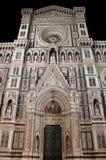 佛罗伦萨大教堂在夜之前 免版税库存图片