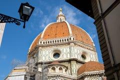 佛罗伦萨大教堂在意大利在一个晴朗的夏日 免版税图库摄影