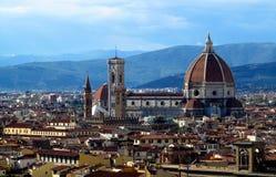 佛罗伦萨大教堂大教堂二圣玛丽亚del菲奥雷 免版税库存图片