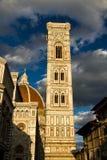 佛罗伦萨大教堂或Cattedrale二圣玛丽亚del菲奥雷Tower 免版税库存照片