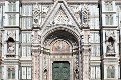 佛罗伦萨大教堂门户  免版税库存照片