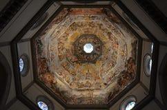佛罗伦萨大教堂,佛罗伦萨,圆顶,天花板,大厦,对称 免版税图库摄影