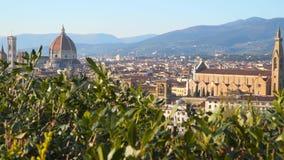 佛罗伦萨大教堂,正式地Cattedrale二圣玛丽亚del菲奥雷 股票视频