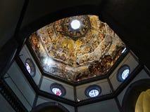 佛罗伦萨大教堂, Brunelleschi圆顶内部,意大利 免版税库存图片