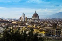 佛罗伦萨大教堂-全景 库存图片