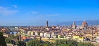 佛罗伦萨天线都市风景。 全景视图。 免版税库存照片