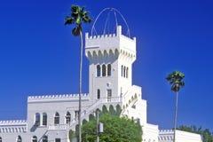 佛罗伦萨宫殿海德公园历史的区,坦帕,佛罗里达位于 免版税库存照片