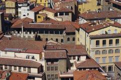 佛罗伦萨屋顶在意大利 库存照片
