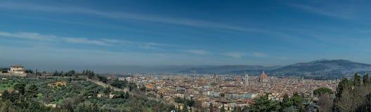 佛罗伦萨巨大的鸟瞰图都市风景风景 免版税库存图片