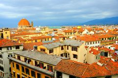 佛罗伦萨市从上面,意大利 库存照片