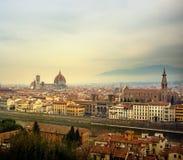佛罗伦萨市全景视图  库存照片