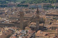 佛罗伦萨市在夏天 库存图片