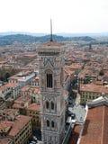 佛罗伦萨市巨大视图从上面 库存照片