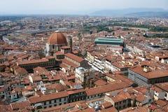佛罗伦萨市巨大视图从上面 免版税库存图片