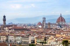 佛罗伦萨市的历史的中心看法  库存图片