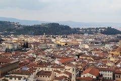 佛罗伦萨开头全景从钟楼塔的 免版税图库摄影